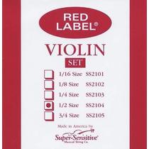 Cuerdas Para Violin 1/2 Juego Nuevo Red Label Supersensitive