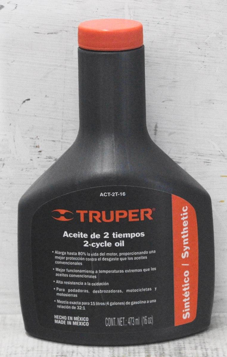 Aceite de 2 tiempos de 473 ml truper act 2t 16 for Aceite para compresor