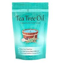 Tea Tree Oil Foot Soak Con Sal De Epsom Ayuda Uñas Treat Atl