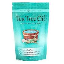 Tea Tree Oil Foot Soak Con Sal De Epsom, Ayuda Hongo Del Cla