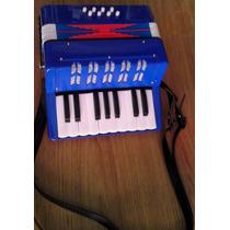 Mini Acordeon De 17 Teclas Infantil - Instrumento Musical