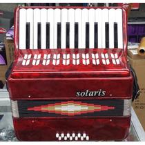 Acordeon Solaris 25 Teclas 12 Bajos Color Rojo Yjp2512