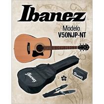 Paquete Guitarra Acústica Ibanez V50njp-nt (cdas Metal)
