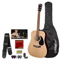 Set Guitarra Acustica Squier Fender Mas Accesorios Vv4