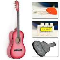 Guitarra Acústica Accesorios Color Rosa