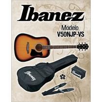 Guitarra Acústica Texana Ibanez V50njp-vs Incluye Accesorios