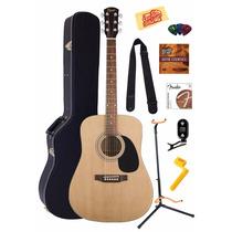 Set Guitarra Acústica Squier Fender Mas Accesorios Envíograt