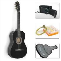 38 Negro De La Guitarra Acústica Paquete Inicial (guitarra,