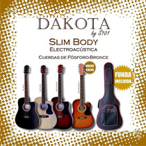 Guitarra Elecacus Dakota Slim Body C/funda Mod. Sbce-bk