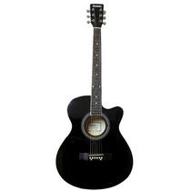 Guitarra Jumbo Acústica Rmc Negro Brillante