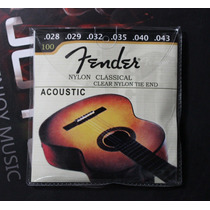 Juego Fender Cuerdas De Guitarra Acústica Clásica.