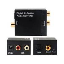 Convertidor Optico A Rca Stereo, Audio Digital A Analogo