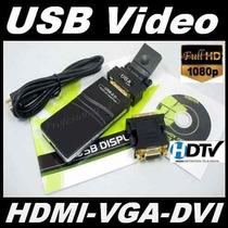 A17 Convertidor Usb A Hdmi, Vga Y Dvi, Mac Alta Definicion