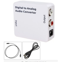 Audio Digital A Analogo (optico Rca) Gratis Cable Fibra Op