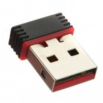 Mini Adaptador Antena Wifi Usb 2.0 Para Redes Inalambricas