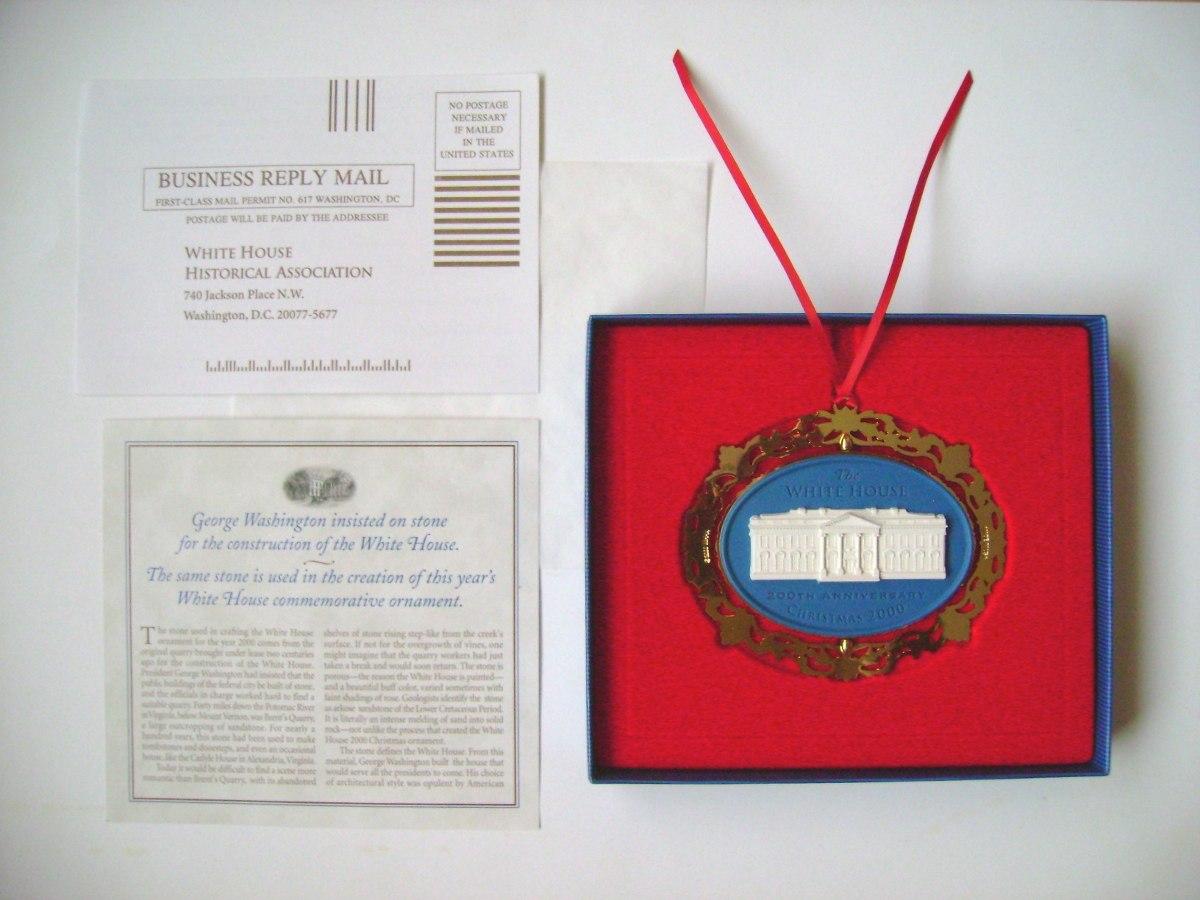 Adorno ornamento casa blanca ba o de oro navidad 2000 - Bano de oro precio ...