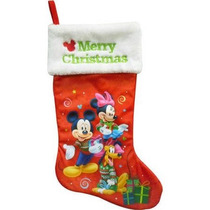 Bota Navideña Mickey Mouse Minnie Mouse Pluto Nueva Disney