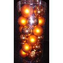 Esfera Navideña 30 Piezas Color Naranja Metalico