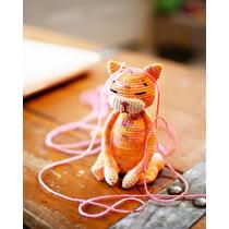 Gato Tejido A Mano Crochet Amigurumi Muñeco Para Niños