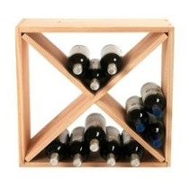 Bodega Compacta Con Forma De Cubo Para Acomodar Vinos
