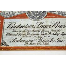 Tsn1751 Letrero Lamina Decorativa Budweiser Vv4