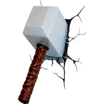 Lampara Para Pared 3d Martillo De Thor Mjlonir Marvel Disney