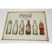 Tsn1839 Letrero Lamina Decorativa Coca Cola Evolution
