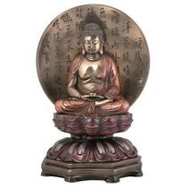 Escultura Buda Medicina Sobre Base Figura Budismo Tibetano
