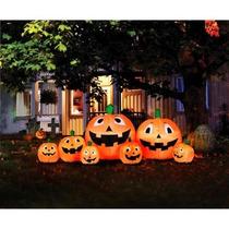 Calabazas Con Luz Led Inflables 2.5 Mts Halloween Oferta