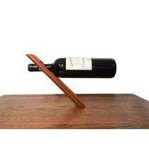 Porta Botella De Vino En Madera Solida De Caoba