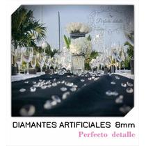 350 Diamantes Artificiales Acrilico 8 Mm Decoración De Mesas