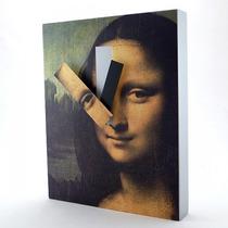 Reloj De Pared Cuadro Mona Lisa Kikkerland Nuevo