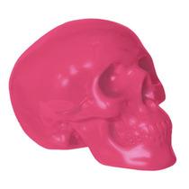 Alcancía De Craneo Rosa Cerámica Nuevo Decorativo Skull