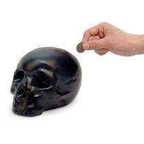Alcancía En Forma De Cráneo Negro Nuevo Decorativa