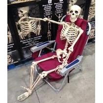 Esqueleto Tamaño Real Decorativo Para Adornar Halloween