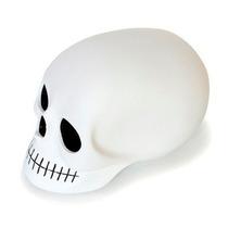 Craneo Decorativo De Resina Mono Blanco Negro Skull Decora