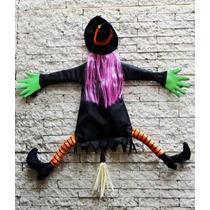 Noche De Brujas Halloween Decoración Figuras En Tela Y Metal