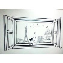 Vinilo Decorativo , Ventana Parisina , Unico Y Original