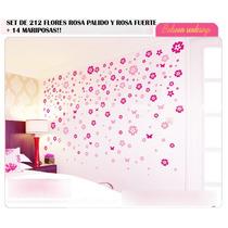 Vinilos Decorativos+424 Flores+envio Gratis