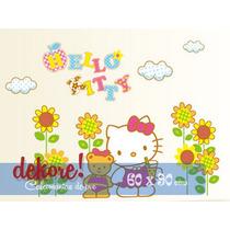 Hello Kitty Con Girasoles Sticker Decorativo... Dekore!