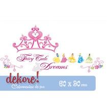 Corona Con Princesas Disney Sticker Decorativo... Dekore!