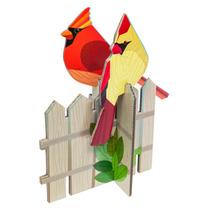 Cardenales Pájaros Armables Decorativos Diseño Design Nuevo