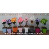 Decoracion Maceta Con Flores Artificiales Mdn