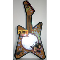 Camp Rock Espejo Decorativo En Forma Guitarra Rock