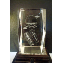 Cubo De Cristal 3d Láser Gotic Dark Gothic Calavera