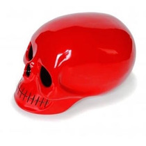 Alcancía En Forma De Craneo Rojo Brillante Shull Calavera