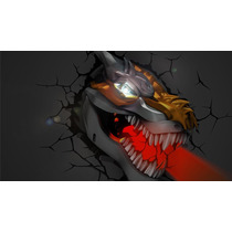 Grimlock Lampara Para Pared Dinobots 3d Transformers Hasbro
