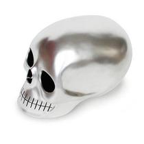 Craneo Decorativo De Resina Mono Plata Skull Nuevo Decora