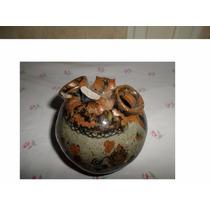 Antigua Vasija De Ceramica Quebrada Mide 10.5 X 10.5 Cm