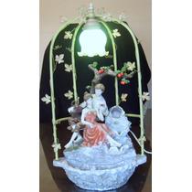 Antigua Lampara-fuente Decorativa Tema Enamorados